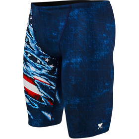 TYR Live Free Allover Jammer Herren red/white/blue
